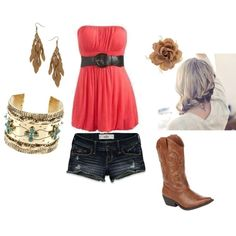 Melon & Cowboy boots, created by lindsey-reen-cooper on Polyvore