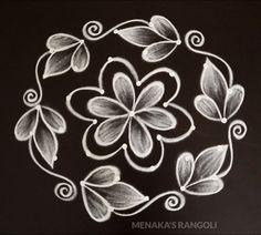 Rangoli Side Designs, Simple Rangoli Border Designs, Simple Art Designs, Simple Flower Design, Rangoli Designs Latest, Free Hand Rangoli Design, Small Rangoli Design, Rangoli Patterns, Rangoli Ideas