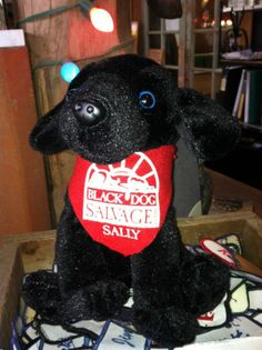 Black Dog Salvage Sally - Plush Black Lab Toy