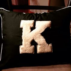 Pillow made from my Dad's Kyrock High School Baseball Uniform.