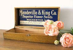 Your place to buy and sell all things handmade King Company, Decorative Hinges, Royal Blue Background, Seed Catalogs, Seed Packets, Old Ads, River House, General Store, Flower Seeds