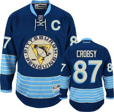 Pittsburgh Penguins Sidney Crosby 87 Blue Authentic NHL Jersey Sale  Pittsburgh Penguins Gear e3a31e4de