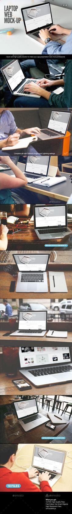 Laptop   Web App Mock-Up #design Download: http://graphicriver.net/item/laptop-web-app-mockup/10897896?ref=ksioks