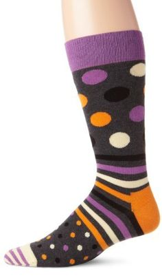 Happy Socks Men's Dots and Stripes 2, Assorted, 10-13 Happy Socks. $12.00. Assorted. Machine Wash. 80% Combed Cotton, 17% Polyamide, 3% Elastane. Made in Turkey. Sock