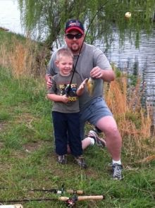 This was my son Nick's first fish! He caught it at Lake St. Clair in Missouri.
