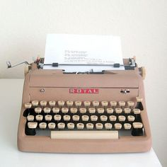 I started writing on this kind of machine. I still have it. Someday I'd like to have it refurbished.