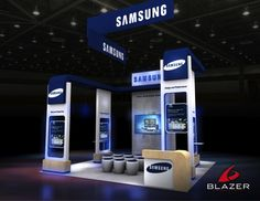 Samsung Booth Design By Blazer Exhibits  Events #tradeshowbooth #tradeshow #design