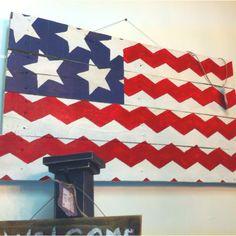 Chevron flag! YES!