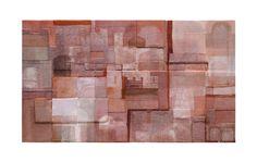 Titolo: Città invisibili 14. Tecnica: acrilico, cartone, carta, stoffa e terre naturali su tavola. cm 124 x 70. Anno: 2011.