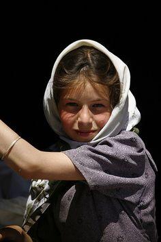 Veiled girl.Yemen by Eric Lafforgue, via Flickr