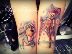 colorful bambi tattoo. I would get thumper just because of Phil.