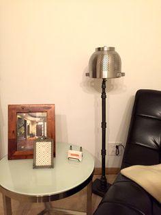 Floor Lamp - Industrial Floor Lamp - Desk Light - Office Lamp - Den Light - Industrial Modern Lighting with electric wiring Industrial Floor Lamps, Industrial Lighting, Rustic Industrial, Modern Lighting, Office Lamp, Office Lighting, Rustic Pendant Lighting, Handmade Lamps, Desk Light