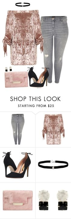 """""""Bridgette- plus size"""" by gchamama ❤ liked on Polyvore featuring River Island, WearAll, Rupert Sanderson and Amanda Rose Collection"""