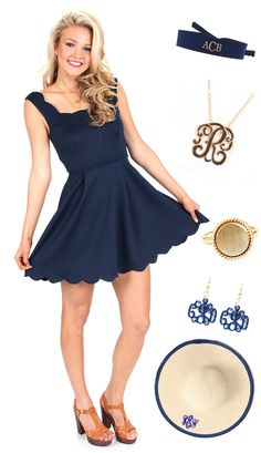 Are YOU ready for the derby?! mondaydress.com has the perfect dress for you + Marleylilly.com has the hottest accessories to spice up your outfit! #derby #navy #horserace #preppy #ootd