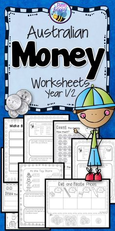 30 Australian money worksheets for Year 1/2 that require no preparation whatsoever, just print and go. Plenty of variety to keep the children interested and learning. Different levels are included to provide differentiation for your groups.