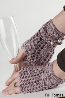Crochet fingerless gloves - Estah!