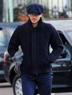 Beckham, Winter Trends for Men, Chunky Knits, mens navy sweater