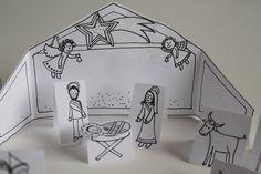 Vyrobte si doma vlastní papírový Betlém, u kterého si děti pohrají, něco se dozví o Ježíškovi a ještě si vánočně vyzdobí domov.