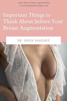 Making an informed decision about breast augmentation is an important part of the process when deciding if this cosmetic procedure is right for you. The more you know, the better you will feel about making this change for your body. Here are some important breast augmentation facts you should know and what you can expect with this very popular cosmetic procedure. Cosmetic Procedures, The More You Know, Plastic Surgery, Things To Think About, Breast, How To Make, Facts, Change, Popular