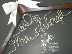 Cinderella Fairytale Coach Wedding Dress Hanger, Personalized Disney Princess Bridal Hanger, Wire Name Hanger Personalized Bridal Gift. $29.95, via Etsy.