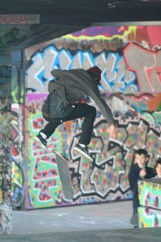 Skate-boarder, London.