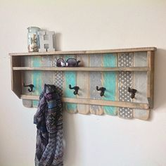 Rustic Pallet Coat Rack