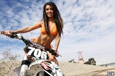 girl on dirt-bike