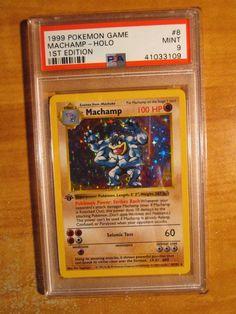 Psa-9 1st Edizione Pokemon Machamp Carta Set di Base 8/102 Primo Shadowless Pokemon Games, Super Powers, Mint, Baseball Cards, Ebay, Peppermint