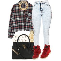 A fashion look from February 2015 featuring Michael Kors handbags, Movado watches and Michael Kors necklaces. Browse and shop related looks. Grunge Outfits, Lit Outfits, Cute Swag Outfits, Dope Outfits, Trendy Outfits, Fall Outfits, Urban Outfits, Dope Fashion, Fashion Killa