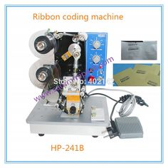 160.00$  Buy now - http://alitej.worldwells.pw/go.php?t=32726011499 - Hot Sale Expiry Date Coding Machine for 3 Lines, Electric Ribbon date code Printing Machine,hot foil stamp coder 160.00$