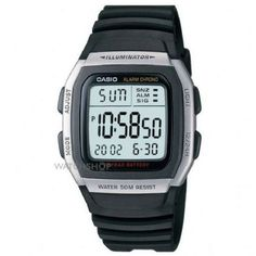 Mens Casio Sports Leisure Alarm Chronograph Watch W-96H-1AVES