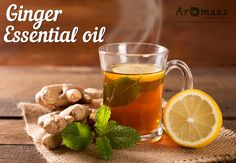 Treats Upset Stomach and Supports Digestion with the help of #Ginger #EssentialOils available at #AromaazInternational