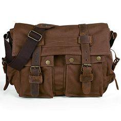 Peacechaos®Casual Leather Canvas Shoulder Bookbag Messeng... https://www.amazon.com/dp/B00TCKRKU2/ref=cm_sw_r_pi_dp_x_aOzuybCQHBT4G