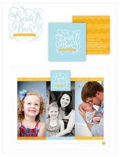 Branding for Sarah Buck Photography www.emmajdesign.com #logos #aqua #yellow