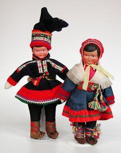 Finnish souvenir dolls; Sami couple