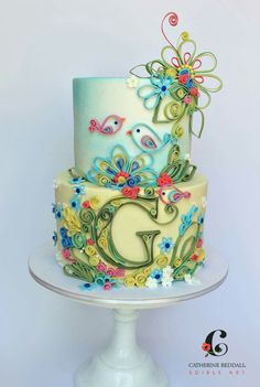 A quilled cake. Very clever.
