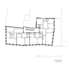 93 Urban housing and créche Geneva, Switzerland - Sergison Bates architects Room Planning, Architecture Design, House Plans, Blog, Floor Plans, Layout, How To Plan, Architects, Google Search