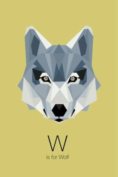 Animal alphabet on behance ilustraciones art wall kids, geom Animal Alphabet, Alfabeto Animal, Geometric Wolf, Geometric Designs, Geometric Shapes, Polygon Art, Illustration Art, Illustrations, Art Wall Kids