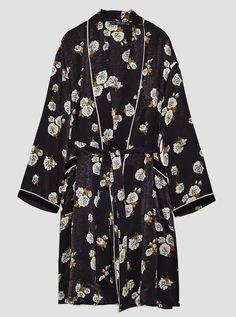 NWT ZARA Black Ecru Combined Kimono with Belt Dress Size M Ref.7860/110 #ZARA #Kimono #Casual