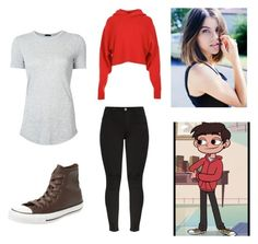 """""""Marco Diaz (Star vs the Forces of Evil)"""" by character-fashion-27 ❤ liked on Polyvore featuring TIBI, Converse, Beauty Secrets and ATM by Anthony Thomas Melillo"""