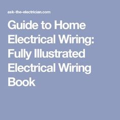 Peachy 35 Best Diy Electrical Wiring Images Electrical Wiring Wiring Digital Resources Indicompassionincorg