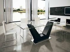 Mesas de Salón Comedor : Modelo VERONA Cristal