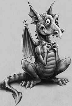 Li'l Dragon by ~WolfieArtGuy on deviantART This little guy is just toooooo cute! Sketches, Drawings, Fantasy Art, Fantasy Creatures, Art, Dragon Art, Dragon Pictures, Cartoon, Dragon Drawing