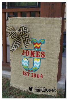 BURLAP GARDEN FLAGS, so cute! Only $22 with lots of designs!
