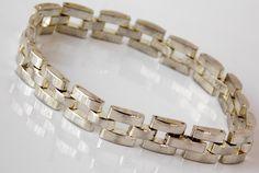 Sterling Silver, Modernist Link Bracelet.