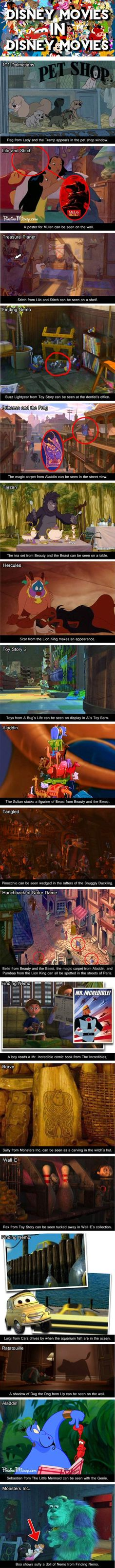 Disney Movies Inside Other Disney Movies…I knew it!!!!! I knew I wasn't crazy...I've seen most of these while watching those movies, always wondered.