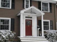 Front door colors with brown brick vinyl siding 24 ideas Best Exterior Paint, Exterior House Colors, Exterior Doors, Siding Colors, Ranch Exterior, Exterior Remodel, Black Exterior, Raised Ranch Remodel, House Front Door