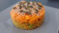Purée de patate douce sur un mélange d'amarante et lentille corail (vegan, sans gluten, sans lactose, sans œuf)