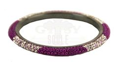 Gypsy Soule Beaded Crystal Skinny Bangle-Purple Save 10% by using promo code GUGREPBRITT at checkout! www.gugonline.com