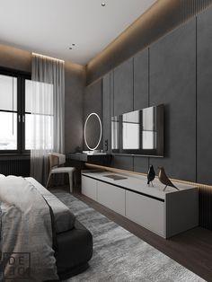 Modern Luxury Bedroom, Master Bedroom Interior, Tv In Bedroom, Room Design Bedroom, Modern Bedroom Design, Room Ideas Bedroom, Home Room Design, Luxurious Bedrooms, Bathroom Interior